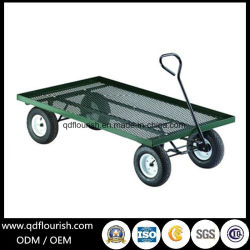 Metal Steel Mesh Tool Cart for Garden Trolley Tc1840