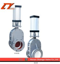 High Performance Pneumatic Ceramic Double Slurry Valve for Industrial