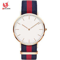 Men Women Watch Fashion Nylon Fabric Watch Sport Students Canvas Strap Quartz Watch-V5