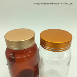 225ml Amber Clear Round Plastic Pill Packer Bottles for Calcium Tablet