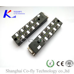 M8 12 Ports 3, 4, 5, 6 Pin with M23 Over-Molded Junction Termination Box