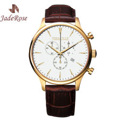 Men's Chronograph Leather Strap Quartz Sport Watch Stop Watch Item# RS1146