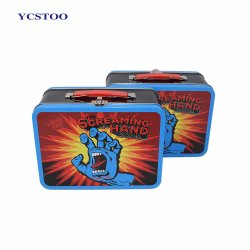 Factory Supply Custom Tin Lunch Box with Handle