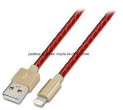 Mfi Certified Leather Braided USB Lightning Cable Data Sync Charger Cord for iPhone6/6splus/5s