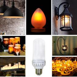 Multi-Function LED Flickering Bulb, Live Flame Emulation/Breathing/General Lighting Mode, True Fire Color