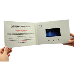 Factory High Quality 4.3 Inch LCD Audio Video Brochure Box Printing Digital Greeting Card for Business Sports Industry
