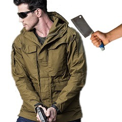 New Design Fashion Men Anti Cut Jacket Self Defense Stab Proof Cut Resistant Outdoor Civil Using Clothing Tactical Jacket Coat