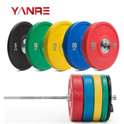 Gym Fitness Sports Machine Crossfit Training Weightlifting Olympic PU Bumper Plates Weight Plate