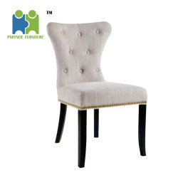 Beau (LOUIS) Wooden Fabric Chair Cheap High Back Modern Dining Chair With Nails  Around