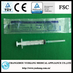 3-Parts Plastic Sterile Disposable Syringe with Ce&ISO Approved