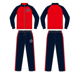 Custom Deisgn Warmup Men Track Suit with 100% Polyester