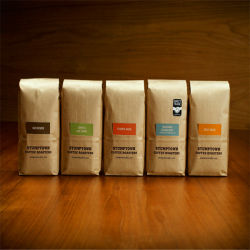 Kraft Paper Coffee Bags with Valve Ground Packaging Green Tea