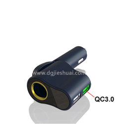 Dual Port Car-Mounted Charger for Iqos Electronic Cigar Car Charger with QC 3.0 USB