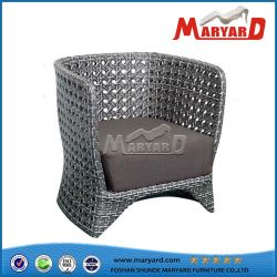 2018 New Modern Popular Outdoor Garden Furniture Aluminium Alloy Frame and Rattan Material with Cushion Single Chair