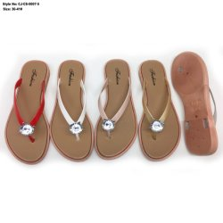1f5079d46b9141 Wholesale Fancy Lady Anti Skid Flip Flop PVC Flat Sandal