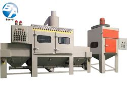 Glass Sand Blasting Machine / Automatic Transmission Sandblast Machine