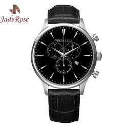 Men's Chronograph Leather Strap Quartz Sport Watch Stop Watch Item# RS1146