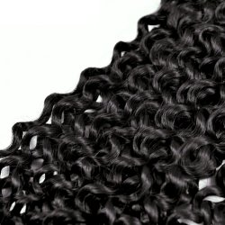 Tfh Curly Lace Closure Brazilian Hair 100% Remy Human Hair 4*4 Free Part 150% Density Natural Color 10-20 Inch
