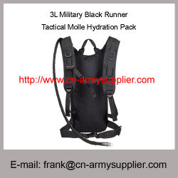 Army 3L Military Black Runner Tactical Molle Hydration Pack Backpack