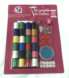 Promotional Travel Sewing Kits, Customized Package and Brand Logo Design