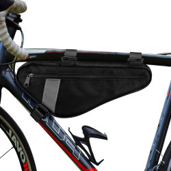 Customized Unisex Sport Travel Bicycle Accessories Water Resistant Road Bike Triangle Bag Front Frame Pack Pouch Storage Saddle Bag