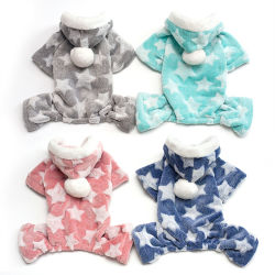 Wholesale Soft Cozy Fleece Pet Cat Dog Clothes Cute Lovely Autumn Winter 4  Legs Dog Pajamas cd4b36a48