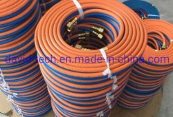 Welding Oxygen Air Water Acid Delivery Slurry Oil Steam Heat-Resistant Discharge Drainage Sand Blast Suction Food Grade Double Rubber Hosetube Pipe