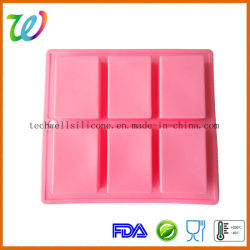 Factory Wholesale FDA Approved 6 Cavity Square Silicone Cake Mould