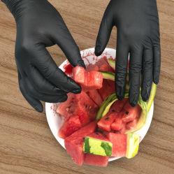Cooking Food BBQ Glue Latex Black Nitrile Gloves