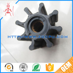 Customized Polyurethane PU Rubber Impeller / Nylon Slurry Pump Impeller