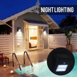 Motion Sensor Security Garden Spot Light 16 LED Dual Outdoor LED Solar Flood Light, Black