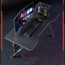Gaming Table Desktop Computer Table Gaming Table and Chair 0378
