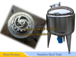 High Hsear Mixing Tank 500L Mixing Tank Mixing Speed 10~100rpm Stainless Steel Tank with Mixing Agitator