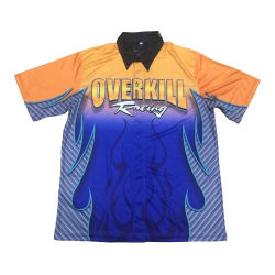 47d70f96 Full Dye Sublimated Custom Pit Crew Shirts Auto Racing Shirts with Full  Buttons