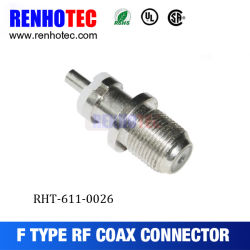 China Supplier Wholesale Price F Female Bulkhead Wire Connector
