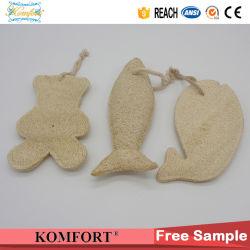 Disposable Wholesale Bath Luffa Animal Hotel Natural Loofah Sponge (KLB-40)