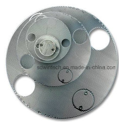 Round Corrugated Stainless Steel Plate Shell Heat Exchanger Used for Petrochemical Industry
