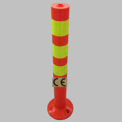 Red or Yellow Spring Post or Parking Traffic Post