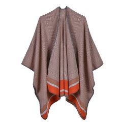 Classic Kiwi Scarf for Ladies with Fashion Cape