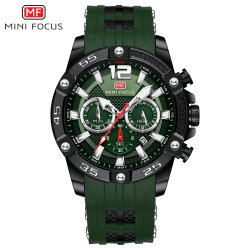 Mini Focus Hot Sale High Quality Luxury New Fashion Design Men Watches Alloy Bracelet Watch with Silicone Strap