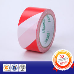 Rubber PVC Yellow/Black, Red/White Caution Warning Tape