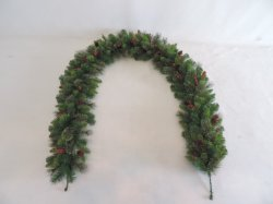9FT Artificial Christmas PVC Wedding Decoration Gift Garland with Pine Cone