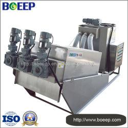 Brewery Sewage Treatment Volute Pressing Sludge Dehydrator
