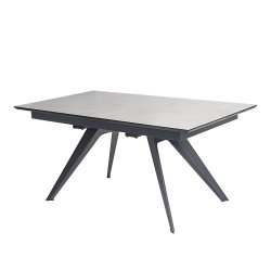 Modern Teem Living Extendable Console Iron Tempered Gl Top Dining Table