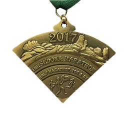 Custom 3D Design Antique Brass Plating Marathon Sports Medal for Promotional Award