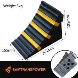 Rubber Wheel Chock or Wedge Heavy Duty for Truck L155W285h185mm