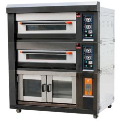 Electric Convection Oven Roaster with Proofer Commercial Pizza Combination Oven for Bread Loaf Cake Cookie Bakery Machine Equipment Shop