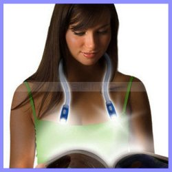 4 X 7lm Super Bright Flood&Spot LED Car Repair Light Hands Free Neck Light Hug LED Light