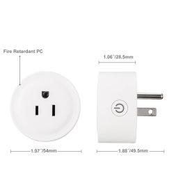 Smart Power Plug Remote Controller Support Echo Alexa Google Home& Homepod