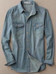 Hot Style Men's 100%Cotton Woven Denim Shirts